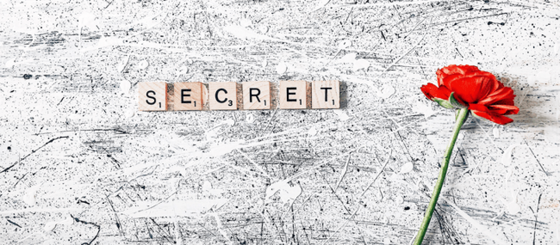 Надпись секрет